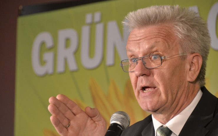 Winfried Kretschmann - Ministerpräsident von Baden-Württemberg bei einer Diskussionsveranstaltung