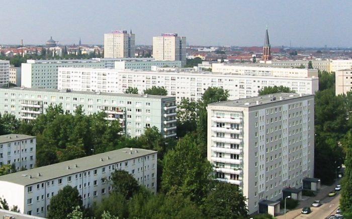Die Blocks der Wohngenossenschaft Mollstraße in Berlin.
