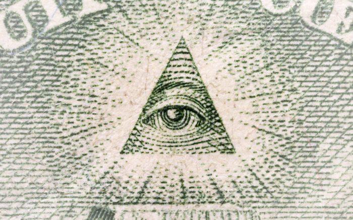 Das Pyramidenauge auf dem Dollar-Schein