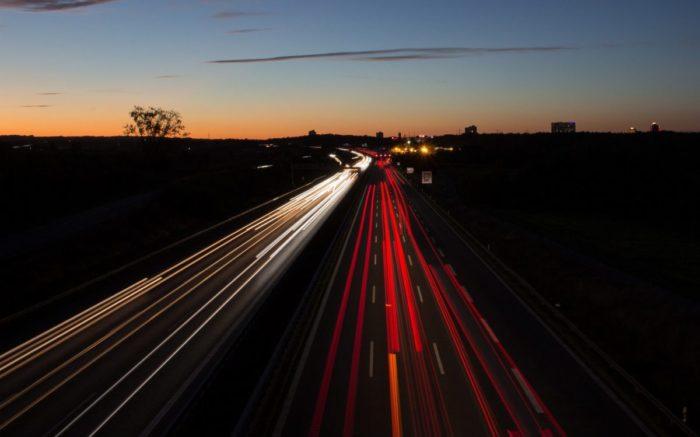 Eine Autobahn.
