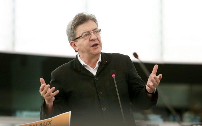 Jean-Luc Mélenchon bei einer Rede im Europaparlament.