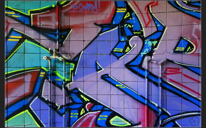 Infrastruktur saniert,Graffitti