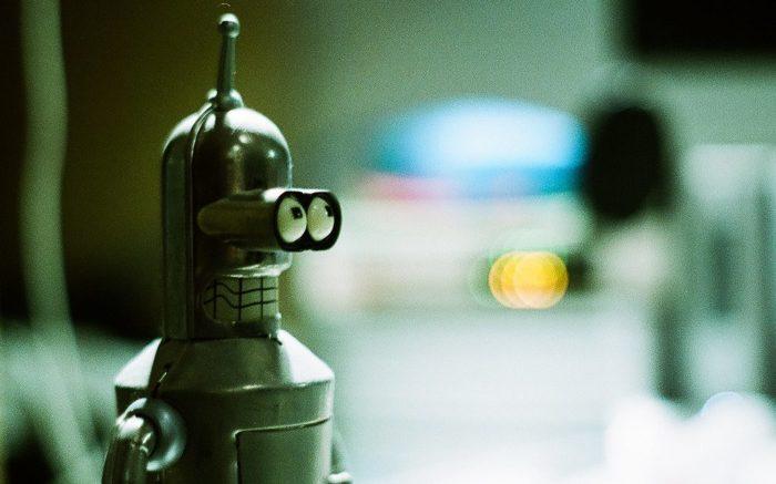 Bender, Roboter der Zeichentrickserie Futurama.