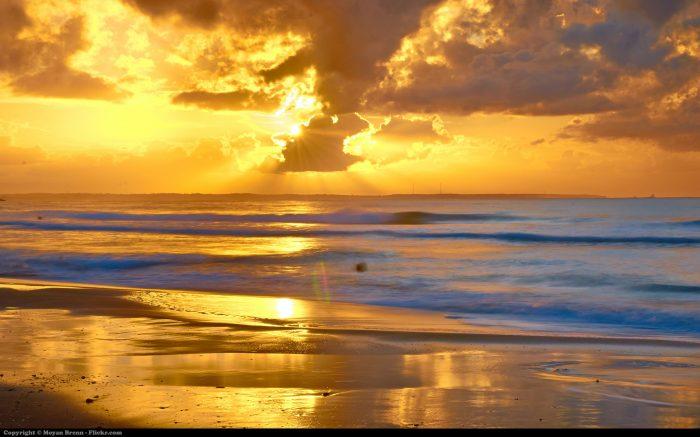 Goldener Himmel