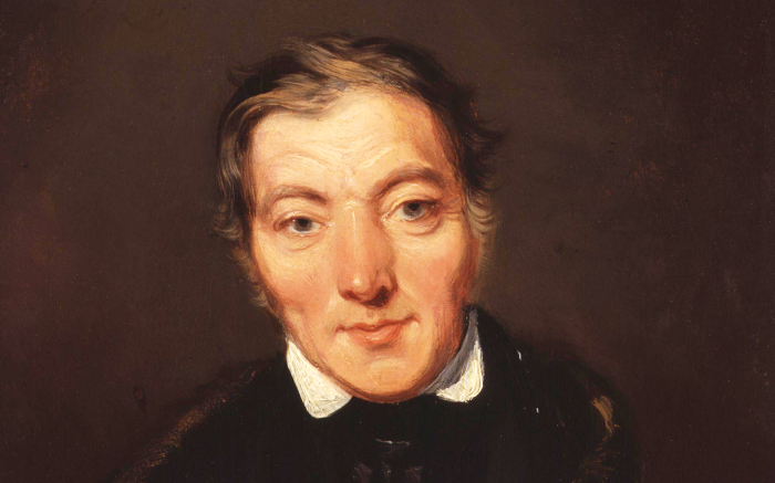 Robert Owen gemalt von William Henry Brooke.