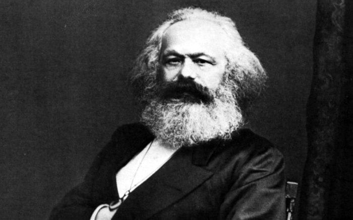 Porträtfotografie von Karl Marx