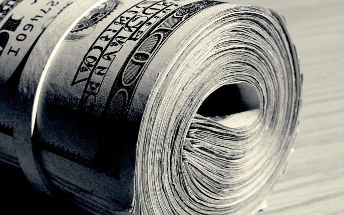 Ein Bündel Dollar-Noten.