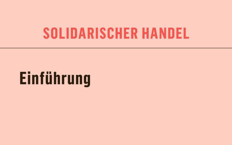 solidarischer Handel