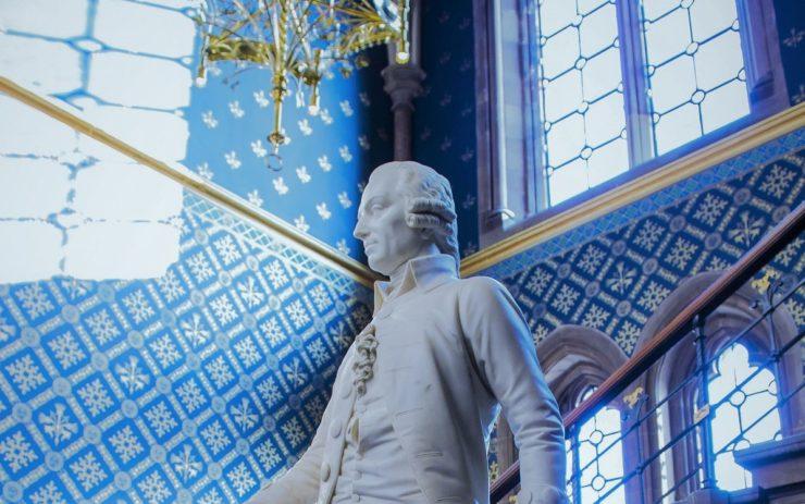 Eine Statur von Adam Smith
