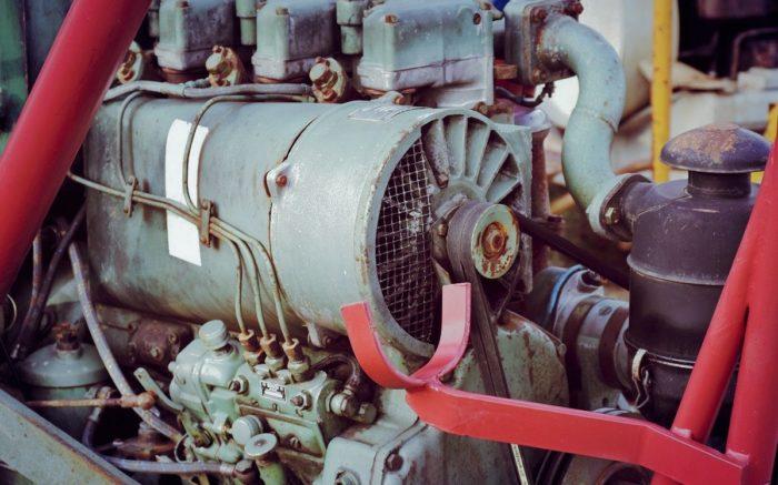 Viel Leistung: Der Motor eines Traktors